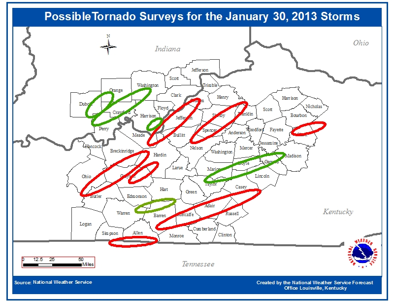 At least three tornadoes touch down in Kentucky Wednesday
